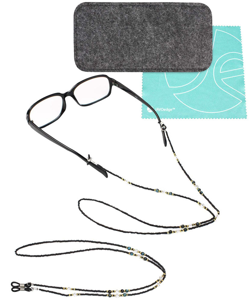 SET: (1 PCS) POUCH CASE + (2 PCS) BLACK NECK CHAIN