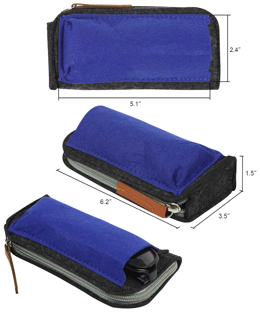 3 PACK - (2 in 1) Zipper and Pouch Case