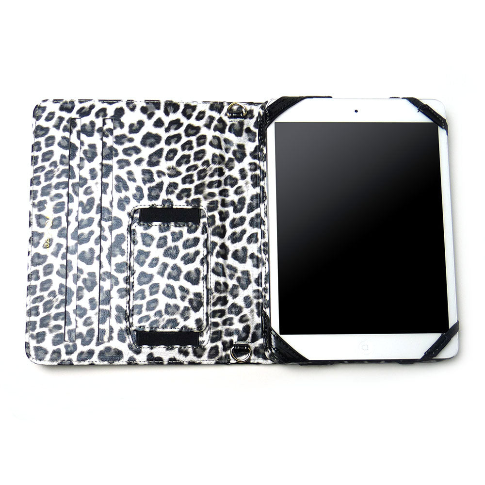JAVOedge Bold Leopard Folio Case for the Apple iPad Mini (Black)