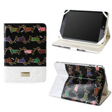 JAVOedge Quilted Dachshund Folio Case for the Apple iPad Mini (Black)