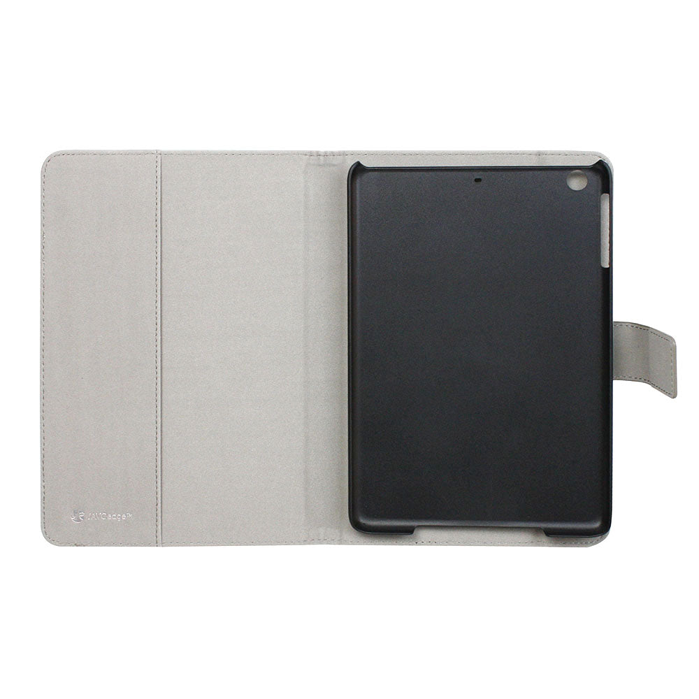 JAVOedge Classic Stripe Folio Case for the Apple iPad Mini 3 (Grey)