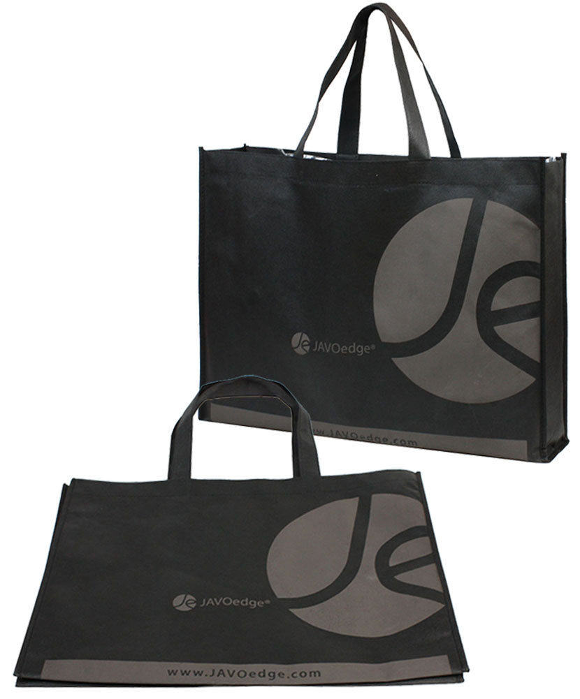 "JE (5 PACK) Basic Mini Shopping Shoulder Totes Reusable Bag (19.5"" x 3.8"" x 14.7"") for Travel, Grocery, School and Work"