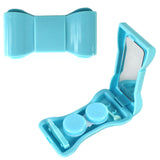 JAVOedge Compact Style Bow Tie Contact Lens Travel Kit with Tweezers, Twist Top Lens Holders and Mirror