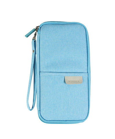 JE RFID Blocking Multiple Passport Holder Case Longer Version for Travel Wallet, Document Holder + 2 Match Luggage Tags