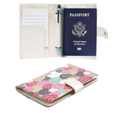 JAVOedge Rosebud RFID Blocking Passport Case with Pen Holder and 2 Matching Luggage Tags