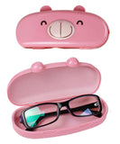 JAVOedge Hard Shell Cute Cartoon Face Eyeglass Case and Bonus Free Soft Microfiber Lens Cleaning Cloth
