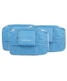 JAVOedge Blue 3 Piece Bundle Nylon Travel Packing / Home Storage Organizer Cubes (Small, Medium, Large)