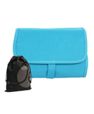Hanging Roll up Toiletry Holder with Multiple Detachable Compartments (Blue)