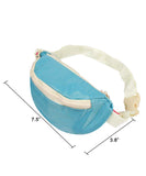 JAVOedge 4 Piece Light Blue Travel Set - Clothing Storage bag, Drawstring Bag, Cosmetic Clutch, and Fanny Pack