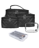 (4 PCS Set) Quilted Bag + (7 PCS) COFFEE Brush Set