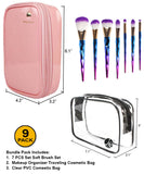 7 PCS Brush Set + Pink [Medium Bag]