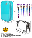 7 PCS Brush Set + Blue [Medium Bag]