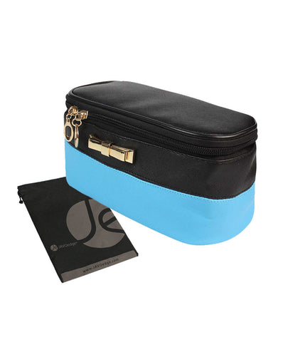 Double Sided Makeup Cosmetic Bag and Jewelry Travel Multi-Function Organizer (Turquoise)