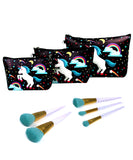 3 PCS SET Unicorn Bag + 5 PCS Unicorn Brush Set