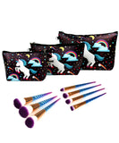 3 PCS SET Unicorn Bag + 7 PCS Unicorn Brush Set