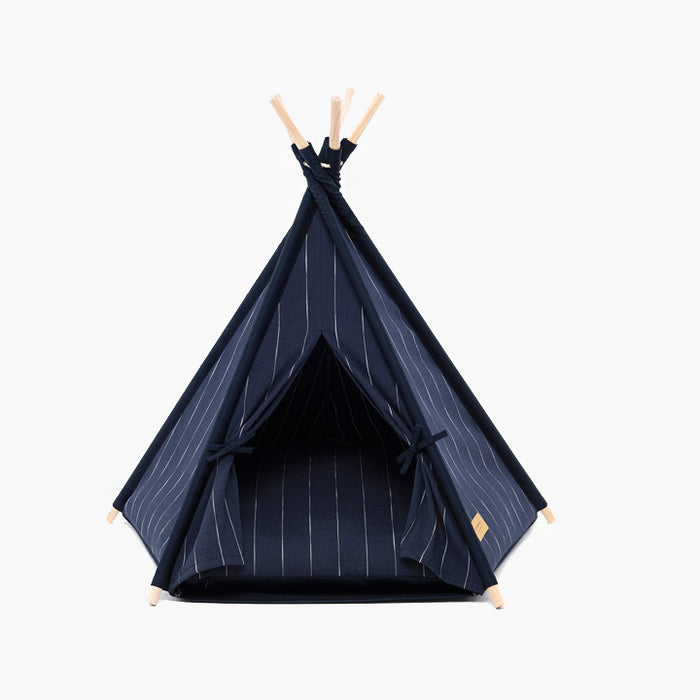 Teepee tent | Pin Stripe Navy