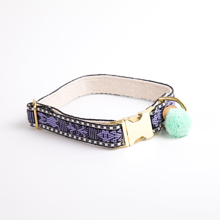 "Xolotl Loom Collar | 1"" Purple"
