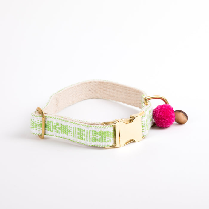 "Xolotl Loom Collar | 1"" Beige lime"