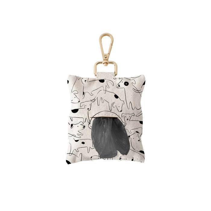 fringe studio NOSEY DOG SPOT CANVAS WASTE BAG DISPENSER