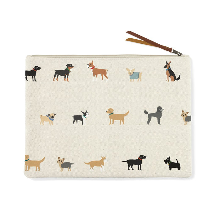 FRINGE STUDIO HAPPY BREEDS LARGE CANVAS POUCH