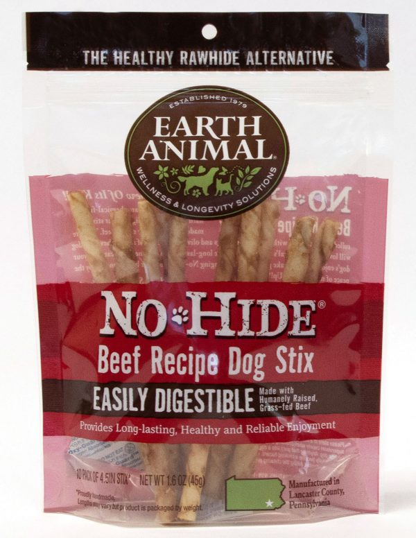 Earth animal no hide beef stix small 10 pack