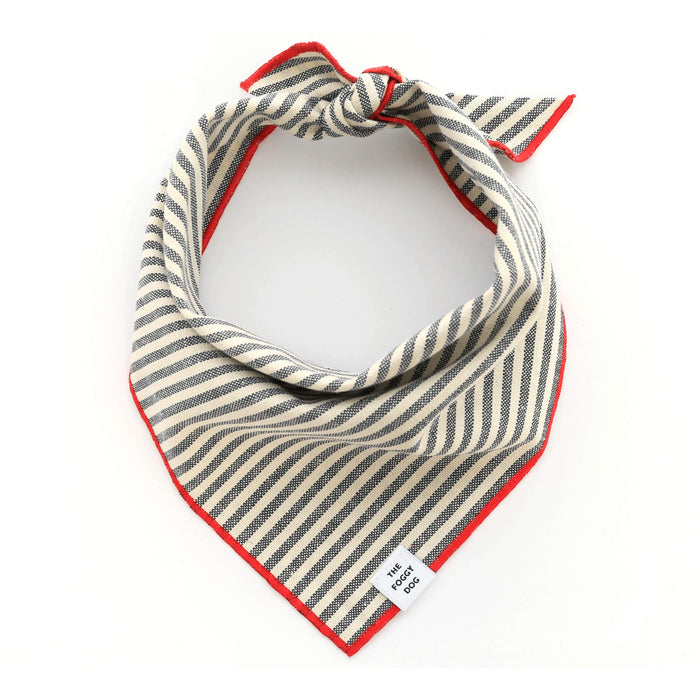 Charcoal Stripe Dog Bandana