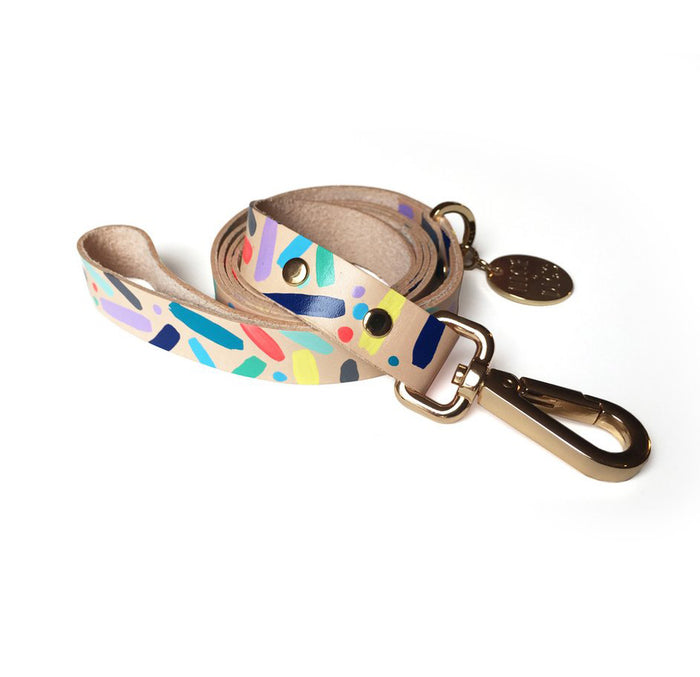 Confetti Leather Leash
