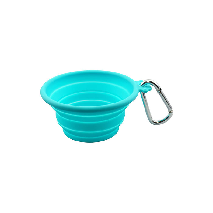 Silicone Collapsible Travel Bowl | Medium blue