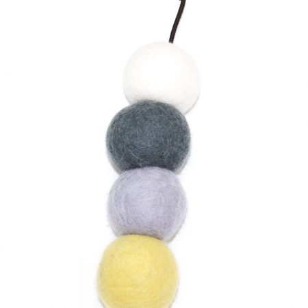 Cat Felted Balls Garland Toy