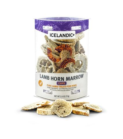 Lamb Horn Marrow Chips Dog Treats - 2.5 oz. Tubes