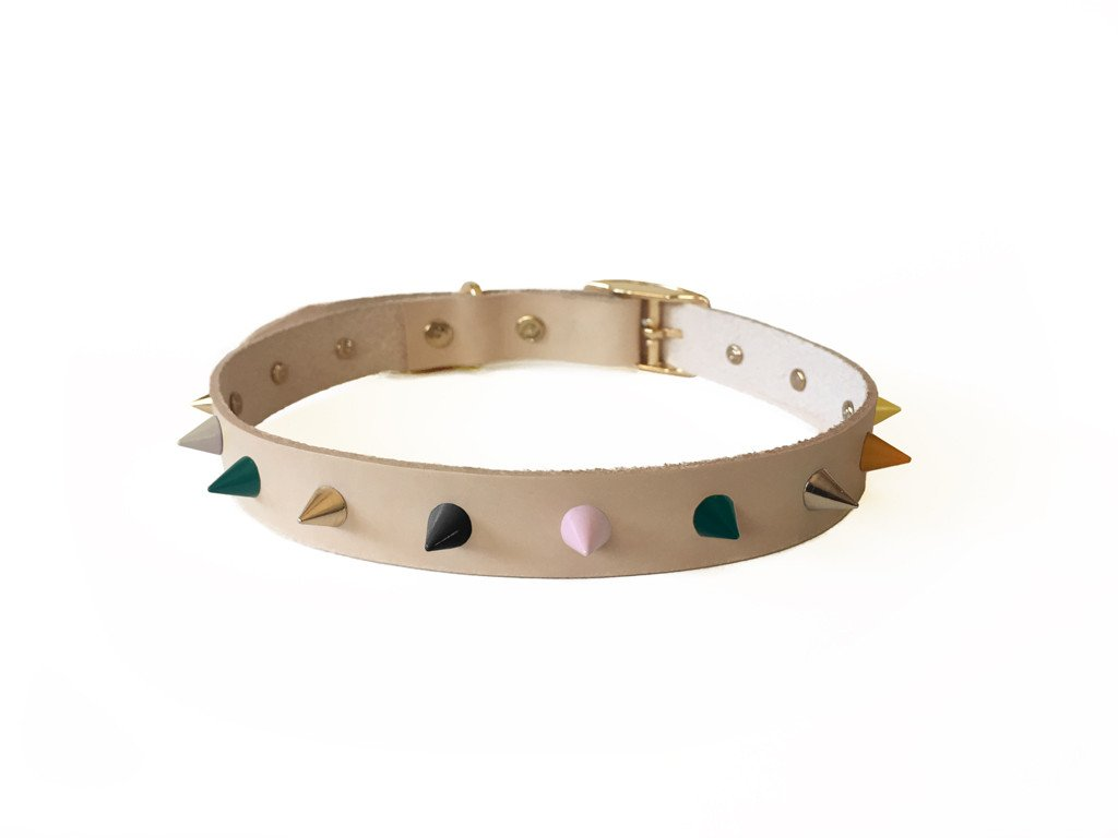 Spike Leather Dog Collar | Jaded Rose