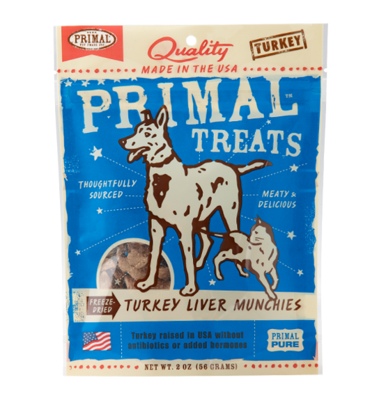 Primal Dog/Cat Turkey Liver Munchies
