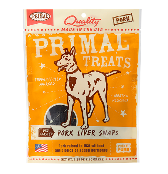 Primal Dog Treats Pork Liver Snaps