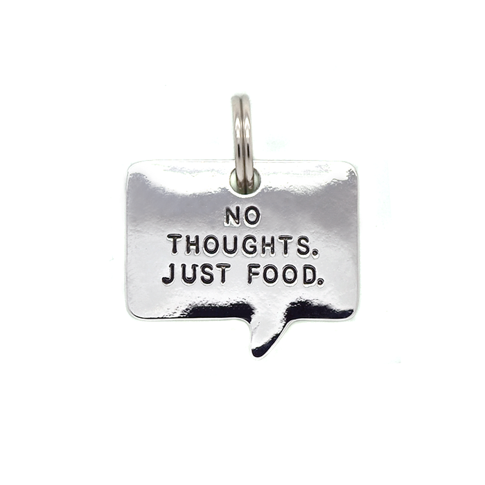 No Thoughts Pet Tag
