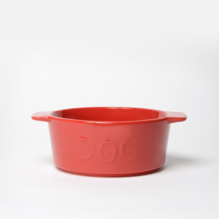 Too Hot Two Handle Dog Bowl Cherry