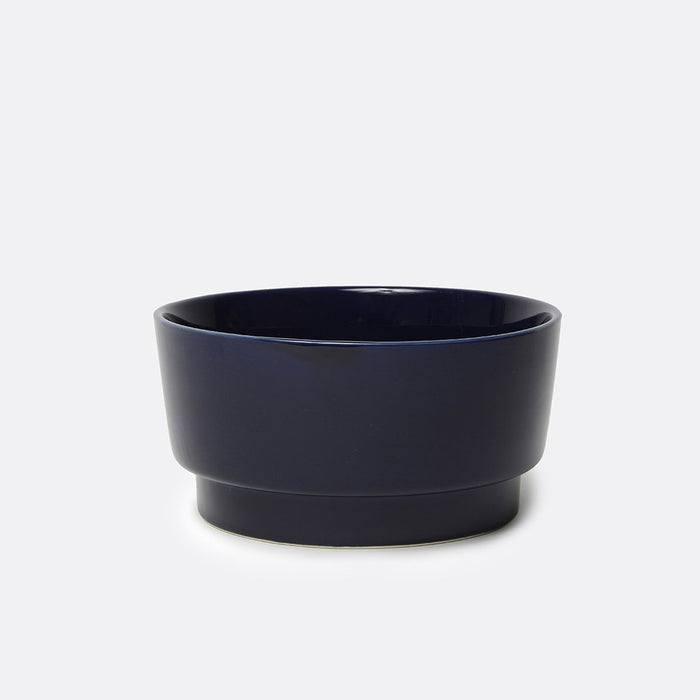 Gloss Ceramic Dog Bowl Midnight