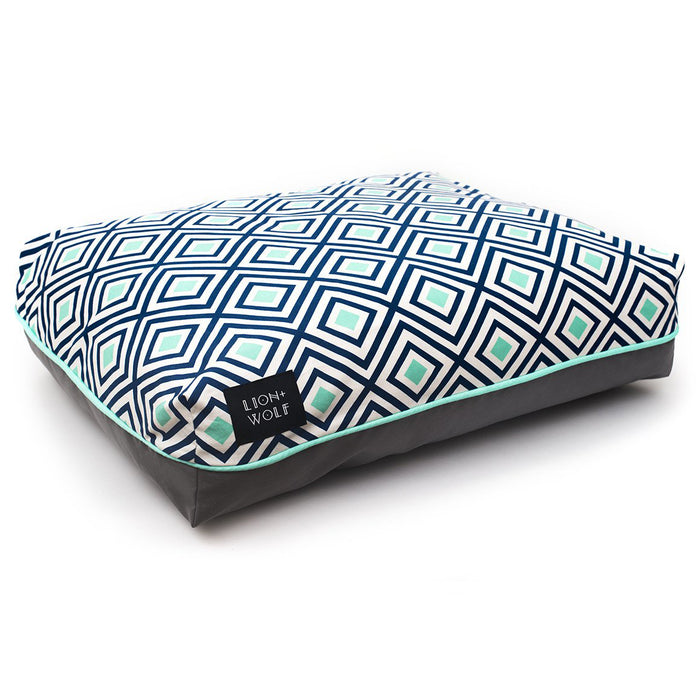 RHOMBUS DOG BED – AQUATIC