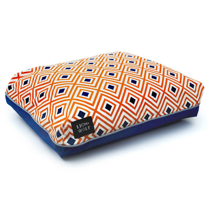 RHOMBUS DOG BED – CREAMSICLE