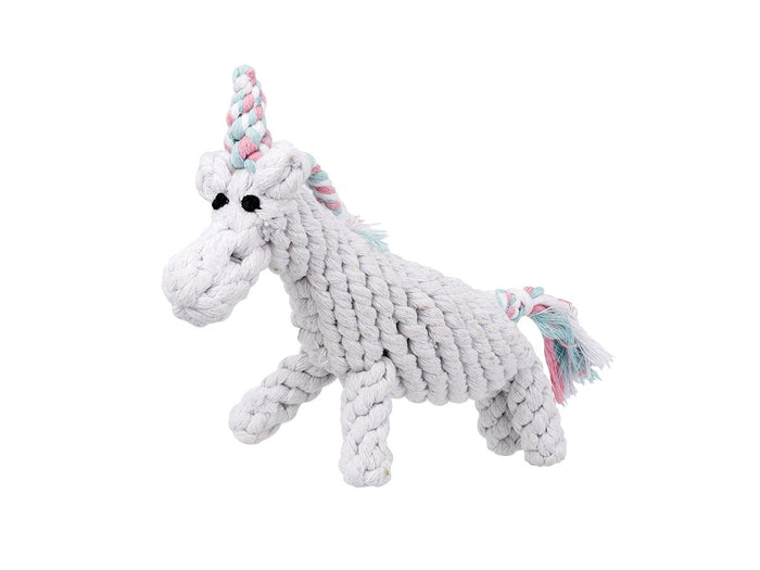 Jax and bone Unicorn Rope Toy 8""