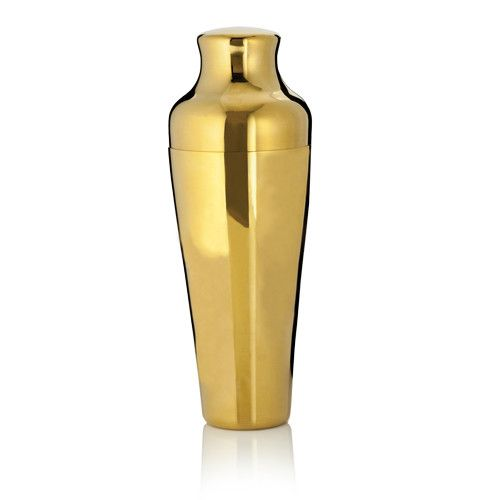 gold french cocktail shaker
