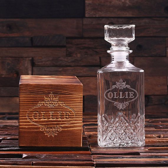 Personalized Whiskey Decanters