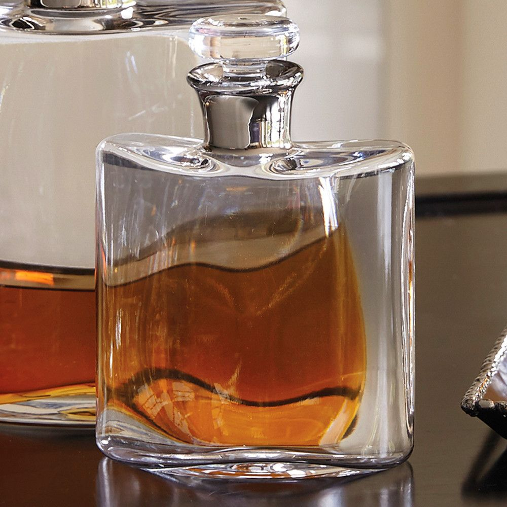 whiskey flask decanter