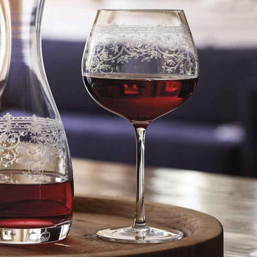 lucca burgundy glasses