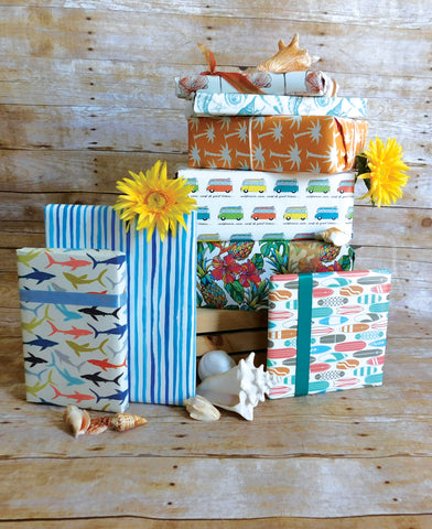 Custom, California Inspired Wrapping Paper Line!