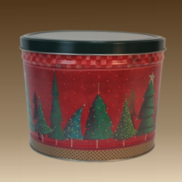 2 Gallon Holiday Themed Popcorn Tin - 3 Flavors