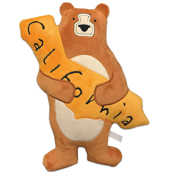 California Bear Plush Pillow