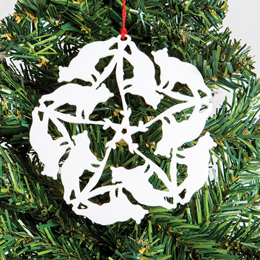 Bear Snowflake Ornament