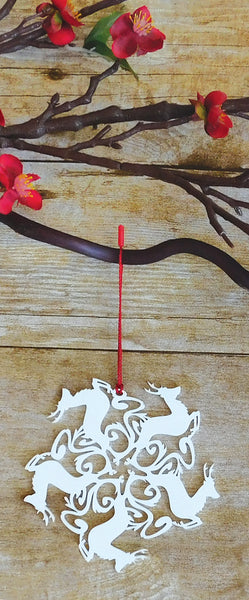Deer Snowflake Ornament