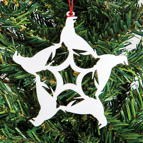 Seal Snowflake Ornament