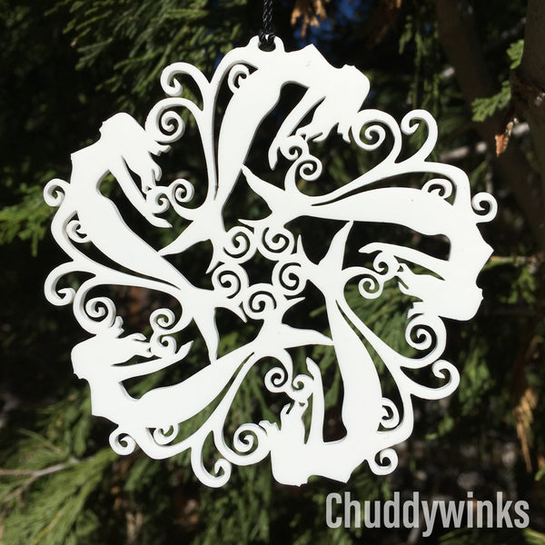 Mermaid Snowflake Ornament